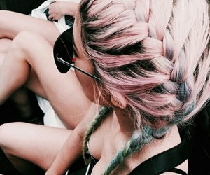colored, girl, and hairstyle image