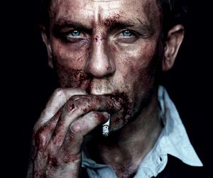 actor, smoking, and blood image