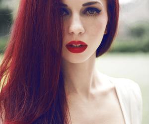 blue eyes, girl, and hair image