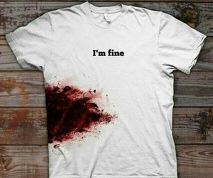 blood, fine, and t-shirt image