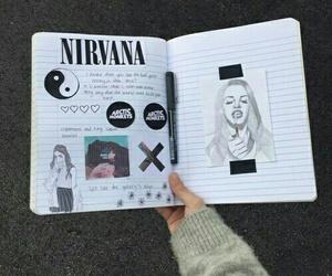 grunge, nirvana, and art image