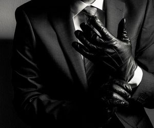 gloves, black, and man image