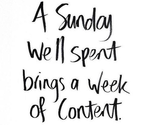 Sunday, quotes, and week image