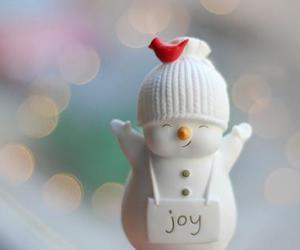 joy, snowman, and christmas image