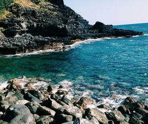 beach, paradiese, and cliff image