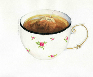 illustration, cup, and teatime image