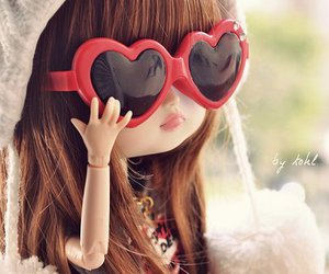 doll, cute, and glasses image