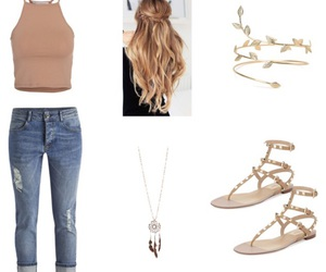 camel, outfit, and Polyvore image