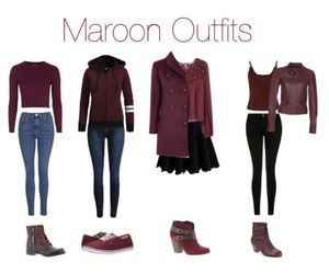 burgundy, maroon, and school outfit image
