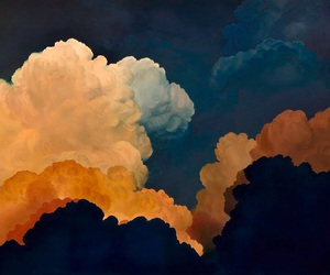 clouds, sky, and indie image