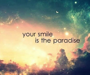 note, paradise, and smile image