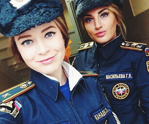 police, girl, and russian image