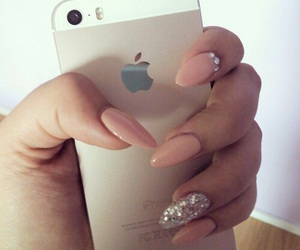 iphone, nails, and gelnails image
