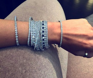 bracelets, diamonds, and jewelry image