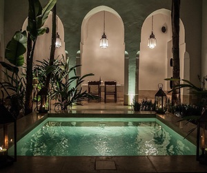pool, house, and places image