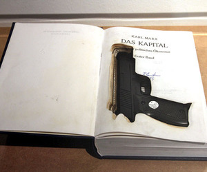 book, gun, and indie image