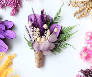 corsage, dried flowers, and etsy image