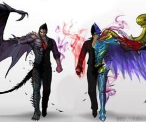 demon, tekken blood vengeance, and jin image