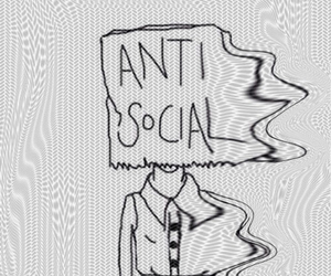 antisocial, grunge, and anti social image