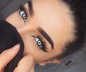 amazing, eyebrows, and green eyes image
