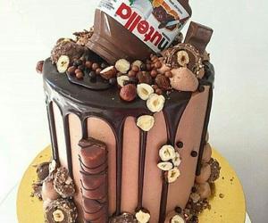 chocolate, cake, and nutella image