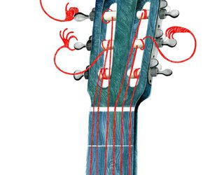 guitar and illustration image
