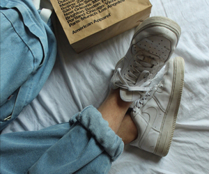 jeans, bed, and nike image