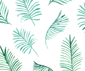 green, palms, and summer image