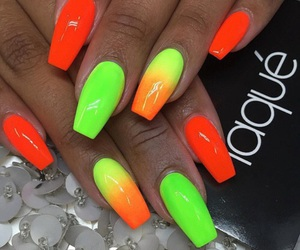 colors, green, and nails image