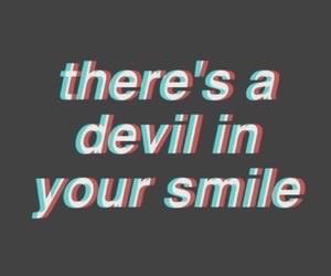 quote, smile, and Devil image