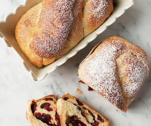 bread, white chocolate, and cranberry image