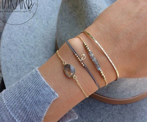 beauty, bracelets, and gold image