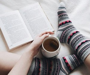 book, tumblr, and socks image