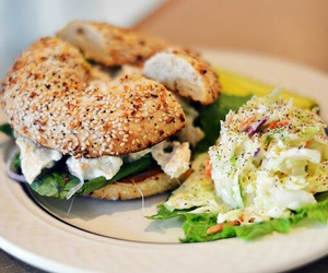 food, delicious, and bagel image