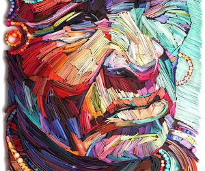 colorful, Paper, and portraits image