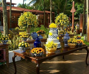 amarelo, decor, and festa image