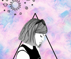 background, colors, and sad girl image