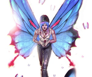 blue, butterfly, and chloe image