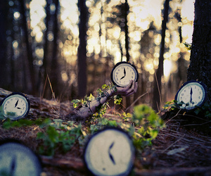time, alice in wonderland, and clock image