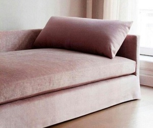 aesthetic, pink, and sofa image
