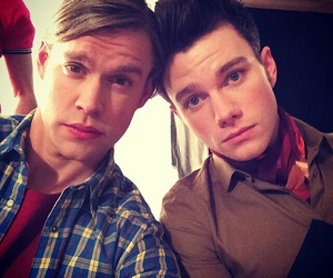 glee, chris colfer, and chord overstreet image