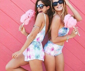 friends, summer, and pink image