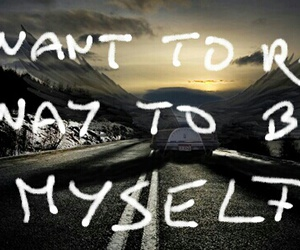 be myself, leave, and never come back image