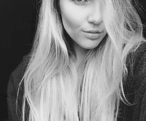 beautiful, black and white, and blond hair image