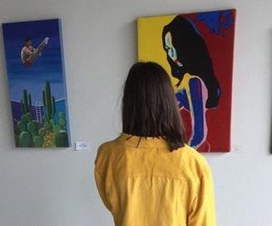 yellow, art, and tumblr image