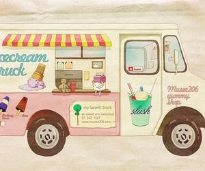 design, ice cream, and illustration image