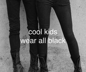 black, pale, and cool kids image