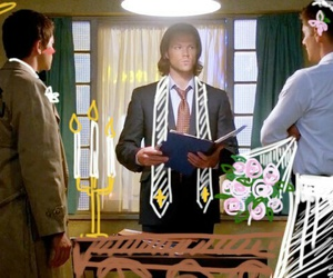 supernatural, dean, and castiel image