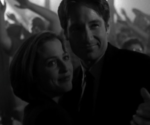 aliens, black and white, and dana scully image
