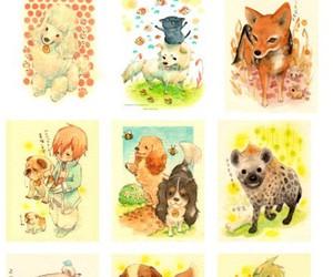 chow chow, dog, and fox image